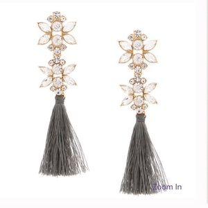 Grey Tassel Earrings